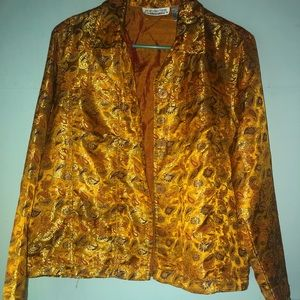 Vintage gold jacket red purple pAisley med new dir
